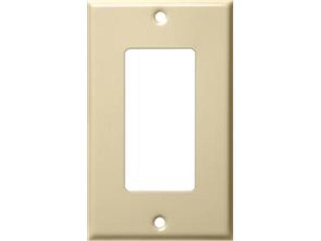 Morris Products 83113 Stainless Steel Metal Wall Plates 1 Gang Decorator - GFCI Ivory