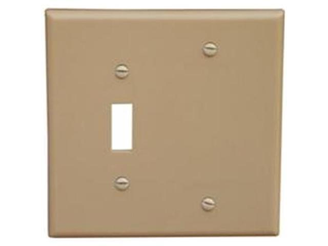 Morris Products 81210 Lexan Wall Plates 2 Gang 1Toggle 1Blank Ivory