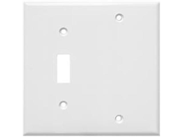 Morris Products 81211 Lexan Wall Plates 2 Gang 1Toggle 1Blank White