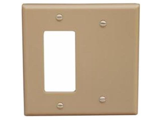 Morris Products 81220 Lexan Wall Plates 2 Gang 1GFCI 1Blank Ivory