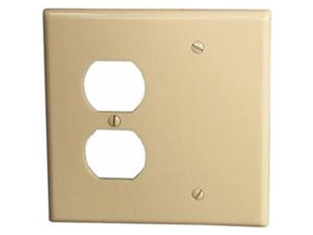 Morris Products 81230 Lexan Wall Plates 2 Gang 1Duplex 1Blank Ivory