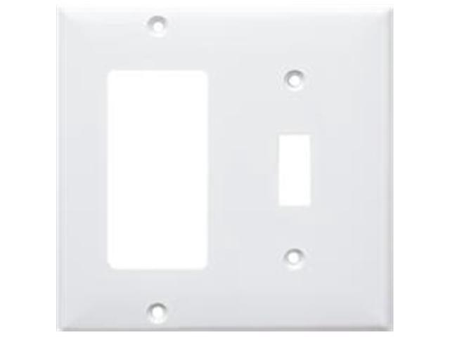 Morris Products 81241 Lexan Wall Plates 2 Gang 1Toggle 1GFCI White