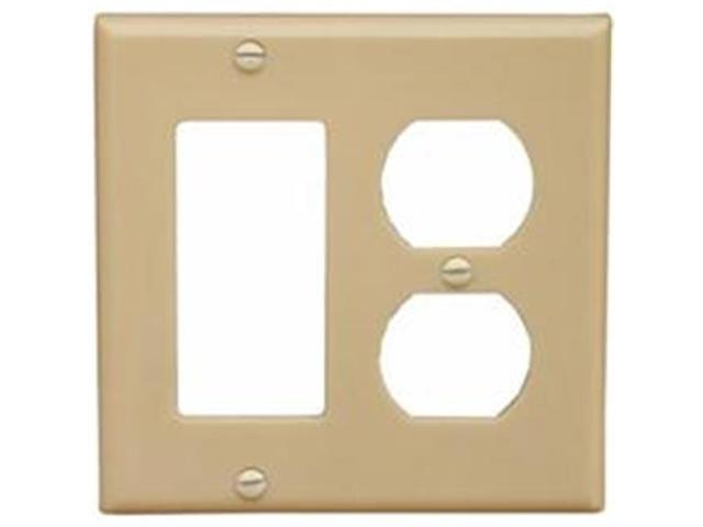 Morris Products 81250 Lexan Wall Plates 2 Gang 1GFCI 1Duplex Ivory