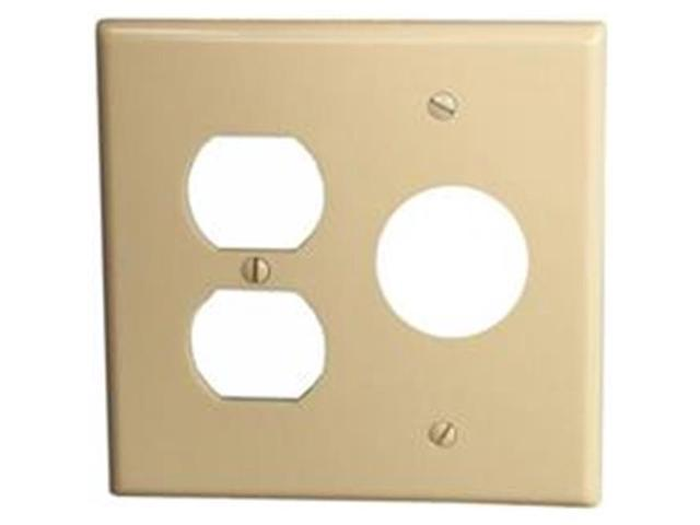 Morris Products 81685 Lexan Wall Plates 2 Gang 1Duplex 1Single Ivory