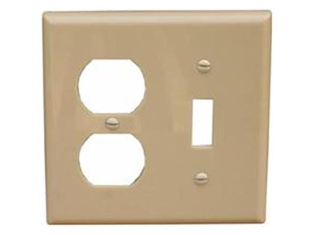 Morris Products 81290 Lexan Wall Plates 2 Gang 1Duplex 1Toggle Ivory