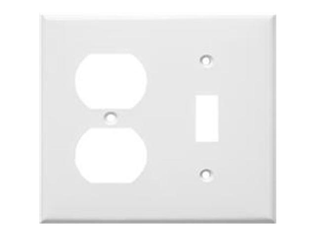 Morris Products 81291 Lexan Wall Plates 2 Gang 1Duplex 1Toggle White