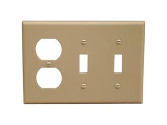 Morris Products 81260 Lexan Wall Plates 3 Gang 1Duplex 2 Toggle Ivory