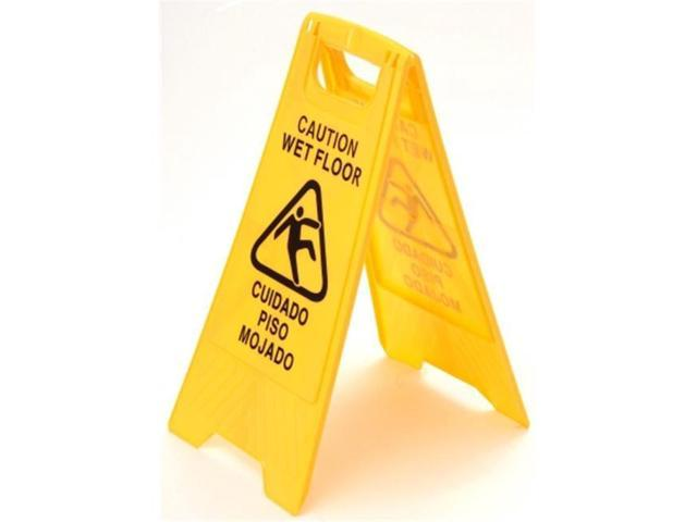 Cequent Laitner Company 7202 Yellow Plastic Caution Wet Floor Sign