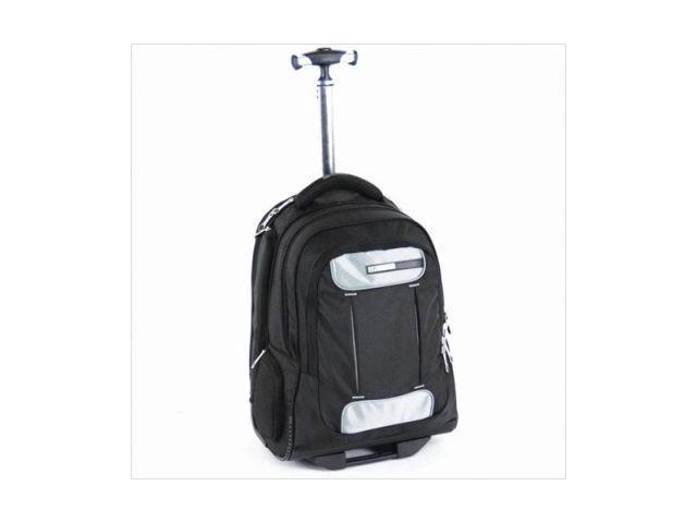 CalPaks ABP203 BLACK Satellite Wheeled Laptop Backpack - Black