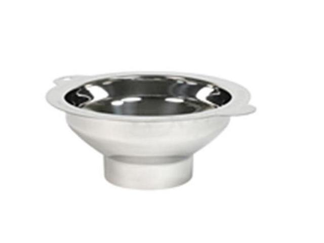 Culinary Accessories Funnels Wide Mouth Canning Funnel 5 1/8 top opening tapers to 2 3/4 neck Stainless Steel 223878