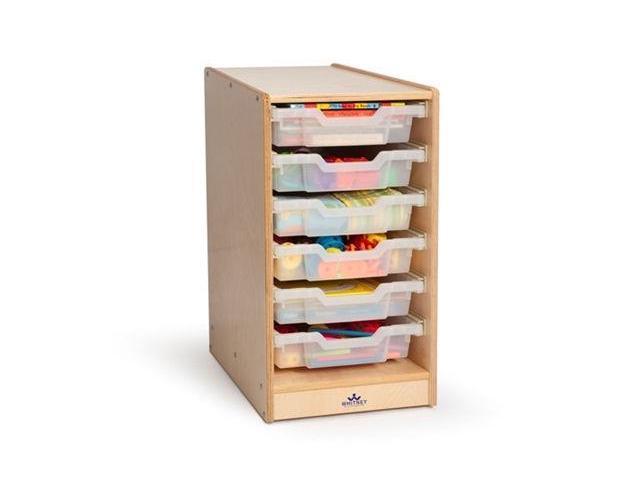 Whitney Bros WB7001 Clear Tray Single Storage Cabinet