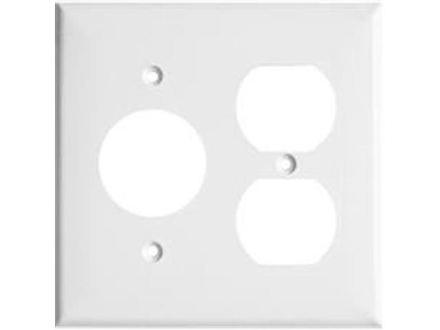Morris Products 81686 Lexan Wall Plates 2 Gang 1Duplex 1Single White