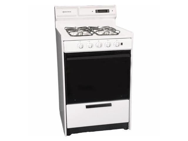 Brown WNM630-7DFK 24 in. Electronic Ignition Gas Range - White