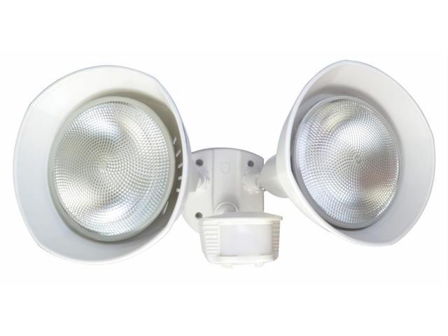 Coleman Cable L6002WH White Twin Head Flood Light