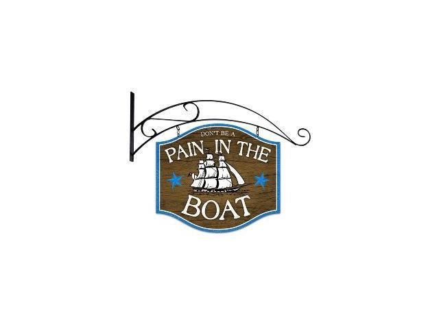Past Time Signs PS166 Pain In The Boat Bar And Alcohol Double Sided Custom Metal Shape With Wall Mount