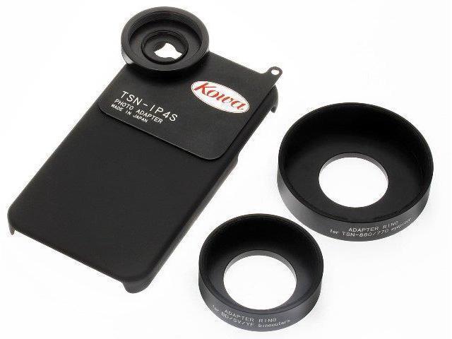 Kowa TSN-IP4S Photo Adapter For Iphone 4-4S Standard Set, Black