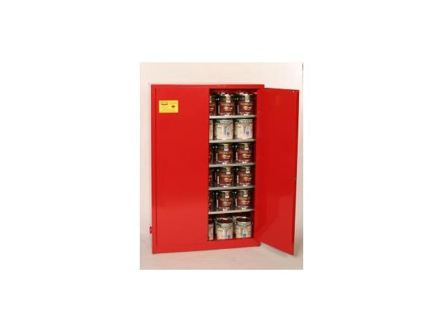 Eagle Pi-47 Paint And Ink Safety Storage Cabinets - Red Two Door Manual Five Shelves