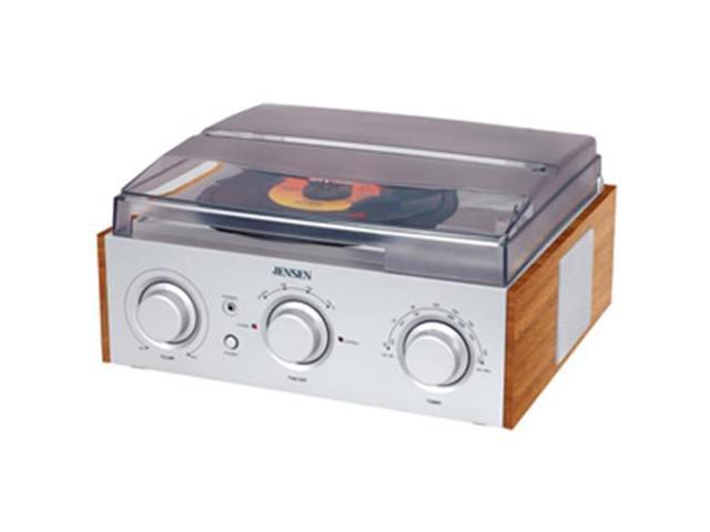 Spectra Merchandising JEN-JTA-220 3-Speed Stereo Turntable with AM-FM