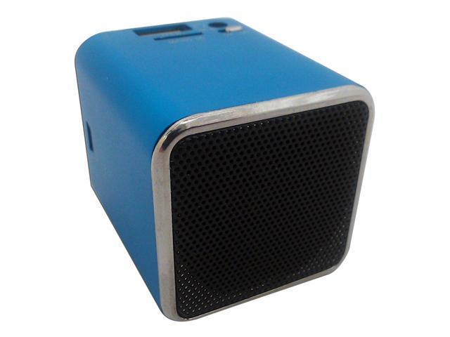 Professional Cable Ocean Blue SnowFire Portable Cuboid Shape Stereo Speaker for iPod / iPad / iPhone & MP3 Electronic Gadgets with Rechargable ...