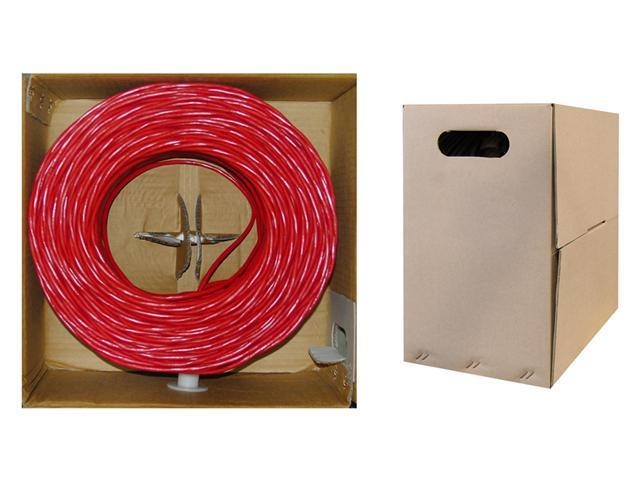 Cable Wholesale CAT5E UTP Bulk Cable Stranded 350MHz 24 AWG Red - 1000 ft