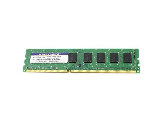Super Talent DDR3-1333 4GB/256x8 Value Memory