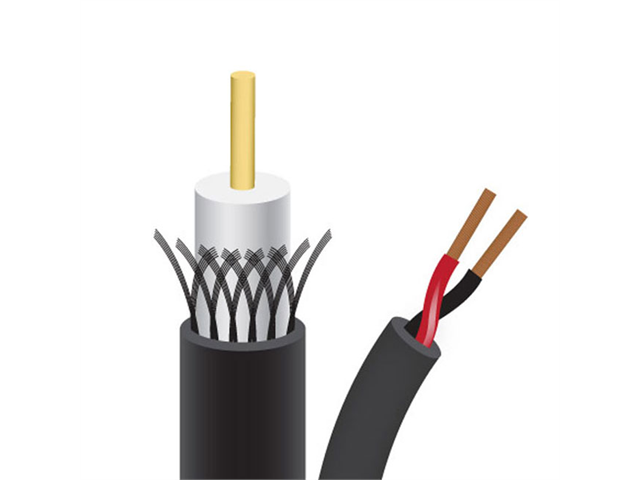 Sewell Bulk Black RG59+Power Siamese Cable 1000 ft. w/ 50 pack of BNC Compression Connectors