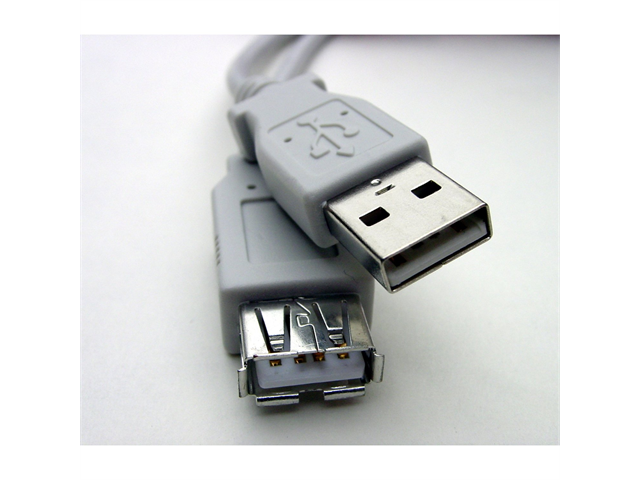 Offex Gray - USB Extension, Fully Rated 24 AWG