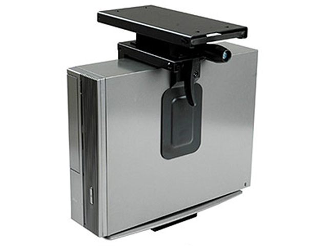 Ziotek Mini CPU Holder Slide/rotating Under Desk Mount
