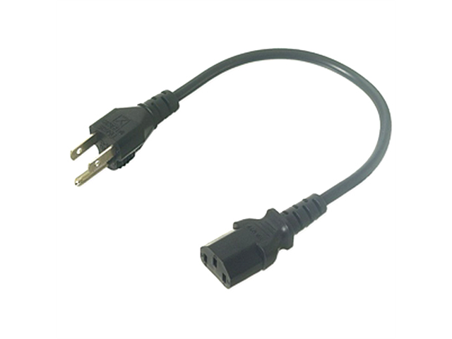 Ziotek CPU Or Monitor Power Cable, 2ft