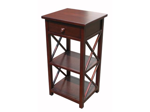 D-Art Mahogany Finish Library Telephone Table / Phone Stand