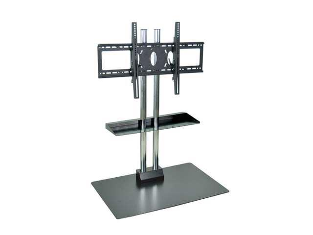 Offex Universal Stationary Wall Mount Flat Panel TV Stand And Mount With Two Heavy Duty Chrome Steel Tubes