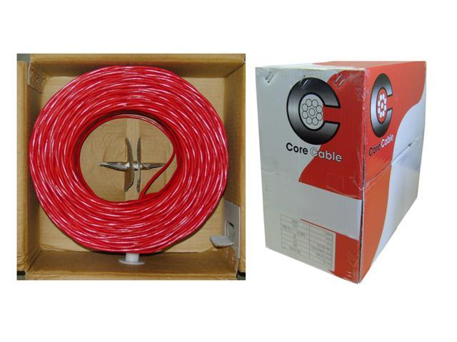 Fire Alarm / Security Cable, Red, 14 / 2 (14 AWG 2 Conductor), Solid, FPLR, Pullbox, 1000 foot