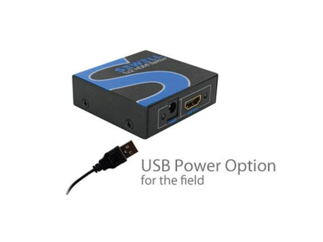 Sewell 1x2 HDMI Splitter, USB Power Option