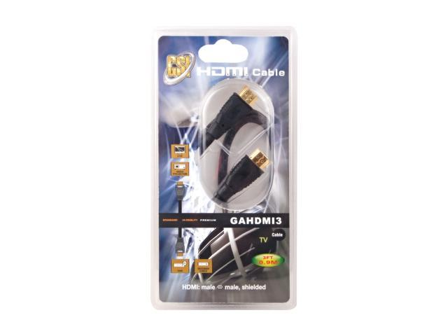 GSI 3 ft. High Definition HDMI Cable, Gold
