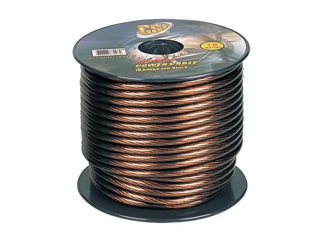GSI 10 Gauge Power.Ground Cables 100 ft Black Color
