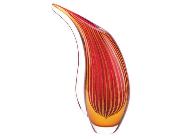 Koehler Christmas Holiday Living room Home Decor Crimson Sunset Art Style Glass Modern Flower Tabletop Display Vase Centerpiece Gift Stand
