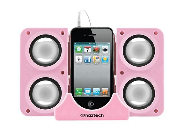Hypercel Naztech N40 Universal Portable Speaker with 3.5mm Audio - Pink