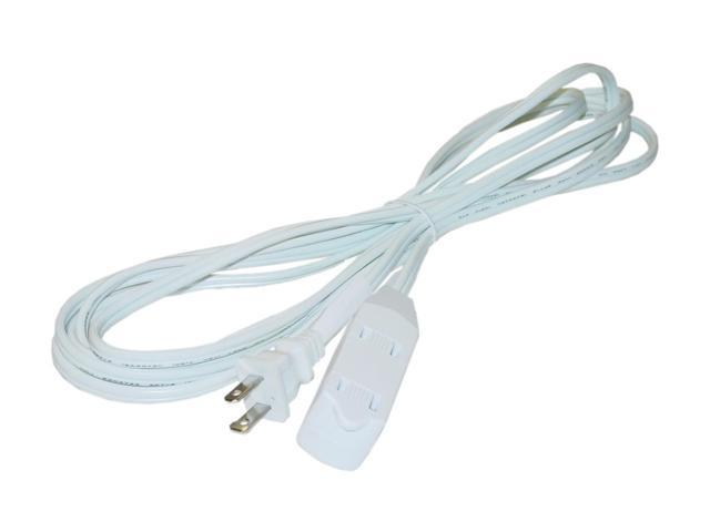 9 Foot 3 Outlet Power Extension Cord UL/CSA White 16/2