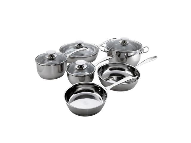 Berndes Home Kitchen Cucinare Induction 10 Pc. Stainless Steel Cookware Set