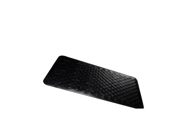 Medium (16'' x 28'') Slip-Resistant Rubber Bath Tub Mat in Black
