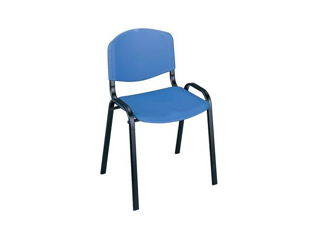 Safco Stack Chairs (Qty.4) Blue