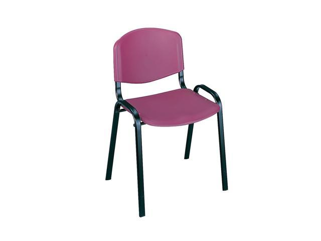 Safco Home Office Products Stack Chairs (Qty.4) Burgundy