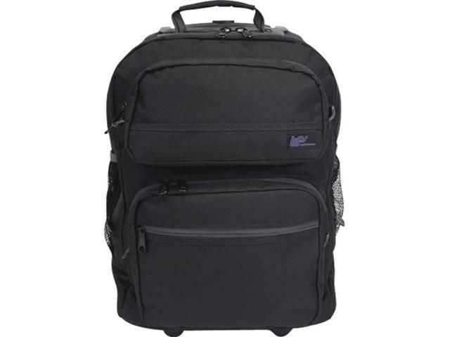 Western Pack Bookmobile Rolling Laptop Backpack (Black)