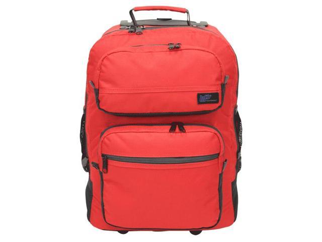 Western Pack Bookmobile Rolling Laptop Backpack (Red)