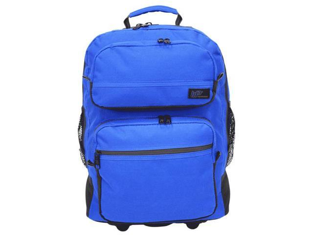 Western Pack Bookmobile Rolling Laptop Backpack (Royal Blue)