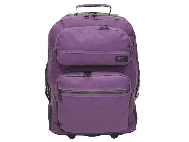Western Pack Bookmobile Rolling Laptop Backpack (Purple)