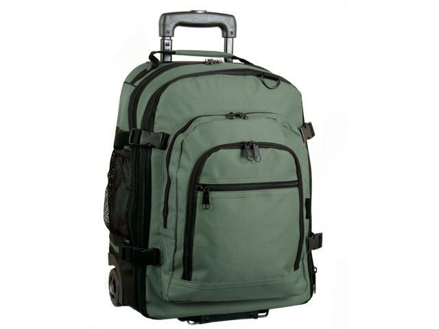 Western Pack Bookmobile Rolling Laptop Backpack (Khaki)