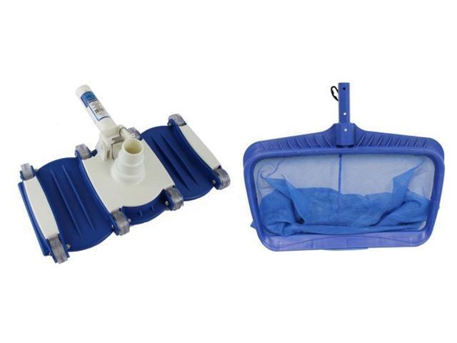 Hydrotools 8040 Deep Bag Leaf Rake Swimming Pool Net + 8150 Weighted Vacuum Head