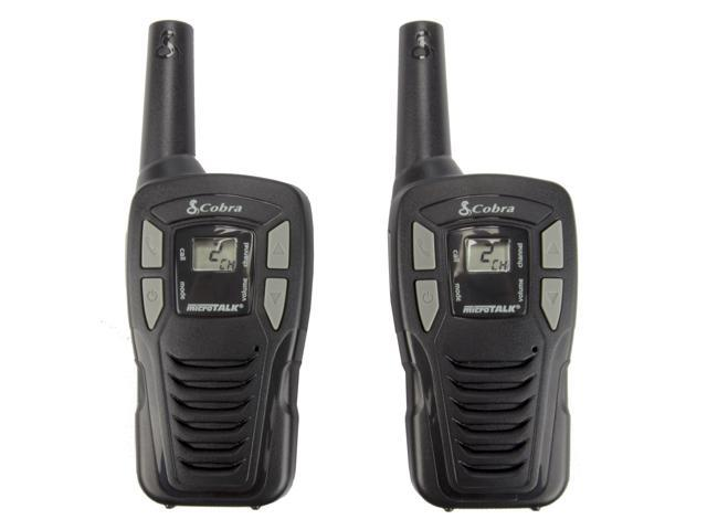 Pair COBRA MicroTalk CX102A 16-Mile 22-Channel FRS/GMRS 2-Way Walkie Talkie Radios