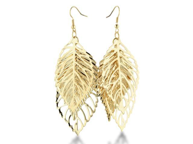 Leaf Jewelry Silver Delicate Silver Tone Leaf Trio